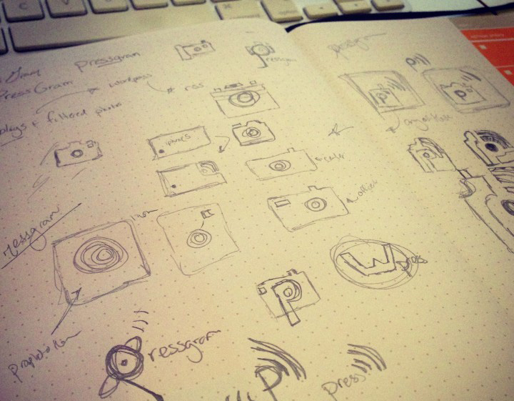 Pressgram Logo Sketches
